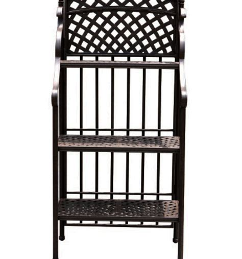 Patio Bakers Rack by Patio Furniture Cast Aluminum Baker S Rack 3 Tier Basketweave