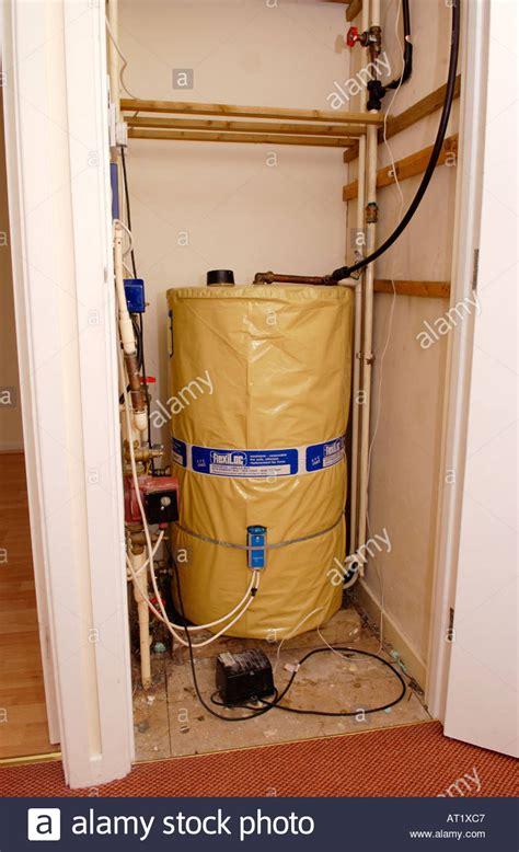 Water Cupboard Water Tank In Airing Cupboard Of A Modern