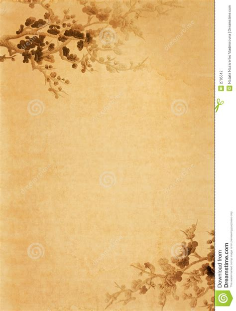 background design old paper old paper with floral design stock photo image of