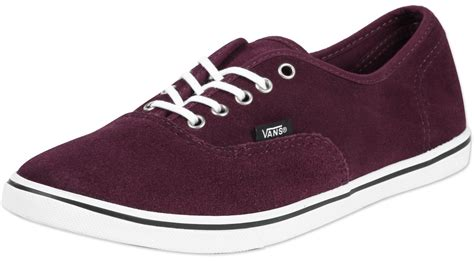 vans authentic lo pro shoes maroon