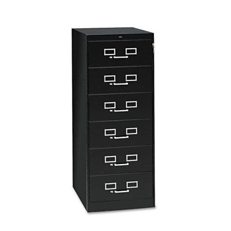 tennsco six drawer multimedia card file cabinet