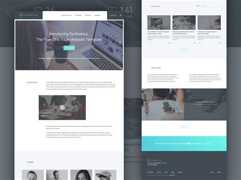 html product page template free freebie synthetica one page website template html