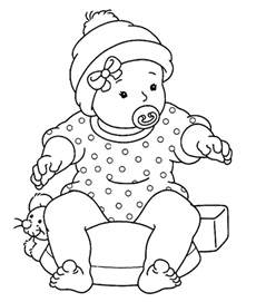 baby coloring page baby color pages az coloring pages