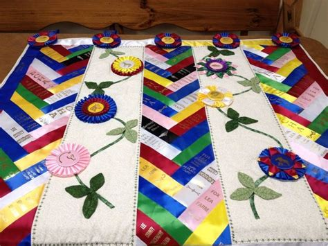 quilt made from show ribbons show ribbons