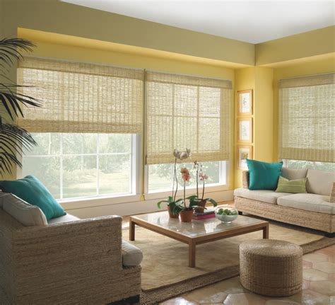living room shades levolor natural woven wood shades from blinds com