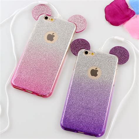Iphone 7 3d Mickey Glitter Bling Soft Tpu Back Reo aliexpress buy luxury 3d mickey mouse