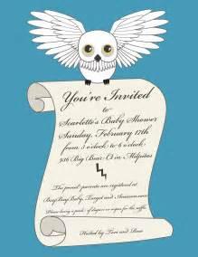 notoriousstar designs harry potter baby shower invitation