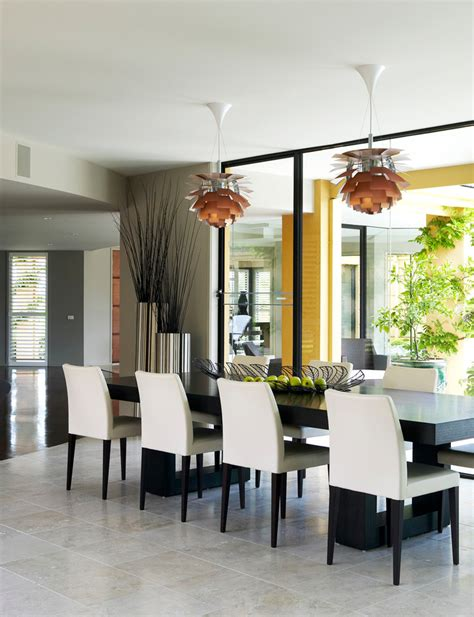 Large Dining Room Ideas Large Floor Vase Decoration Ideas Dining Room Contemporary With White Dining Chairs Wood