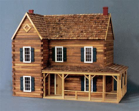 doll house kit scale one inch the retreat log cabin dollhouse kit 1 12
