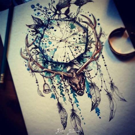 wolf dreamcatcher tattoo tumblr les 25 meilleures id 233 es de la cat 233 gorie tatouage attrape