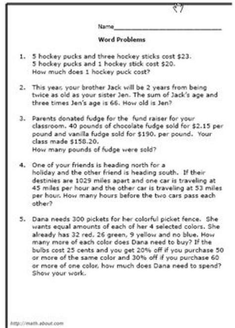Word Problems Worksheets by Math Word Problem Worksheets Integers Math Best Free