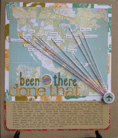 scrapbook layout maps papercraft scrapbook layout been there done that