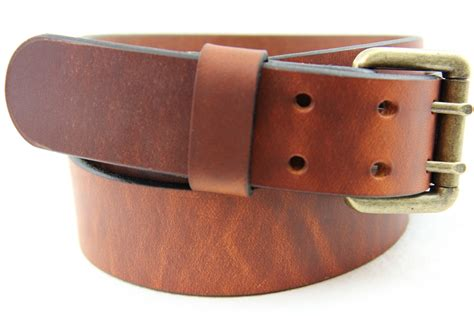 dipped harness leather belt made in america dress