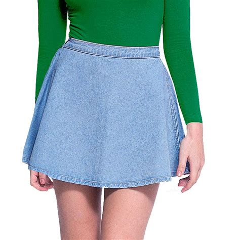 circle denim blue wash flared side button waist jean