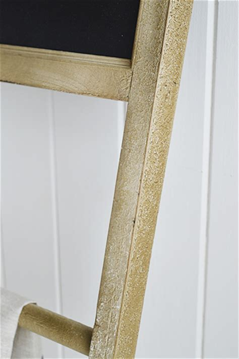 Dorchester tea towel holder, towel ladder from The White