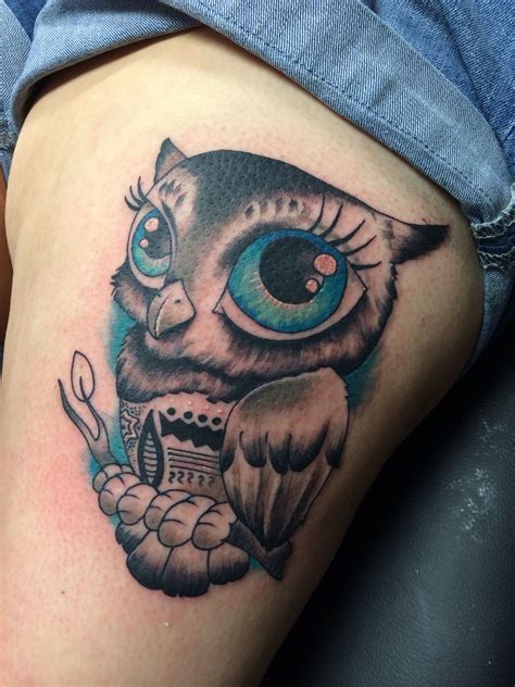 blue eye tattoo owl big blue tattoos big blue