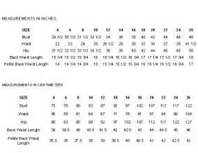 sewing pattern sizes mccalls sewing pattern size chart measurement charts