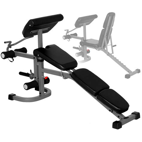 weight bench with arm curl the x mark flat incline and decline weight lifting bench