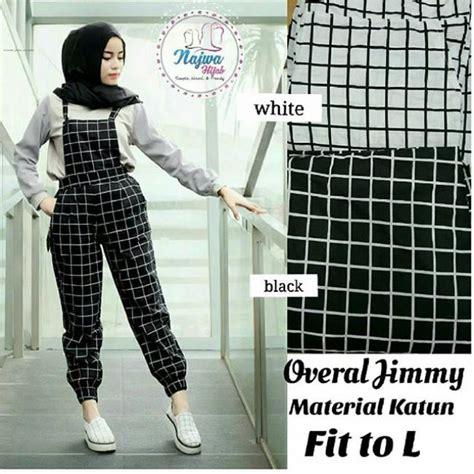 Overall Dress Wanita Muslim Line Overall baju muslim murah overall jimmy grosir baju muslim