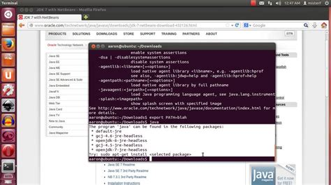 tutorial install netbeans how to install netbeans and the java jdk on ubuntu linux