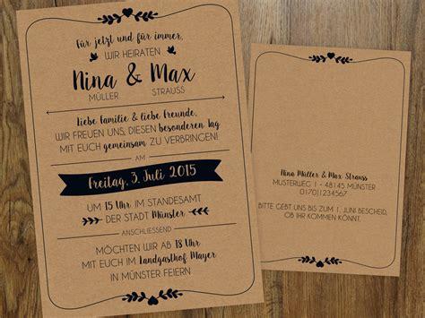 Hochzeitskarten Einladung Vintage by Hochzeitseinladung Vintage Einladungen