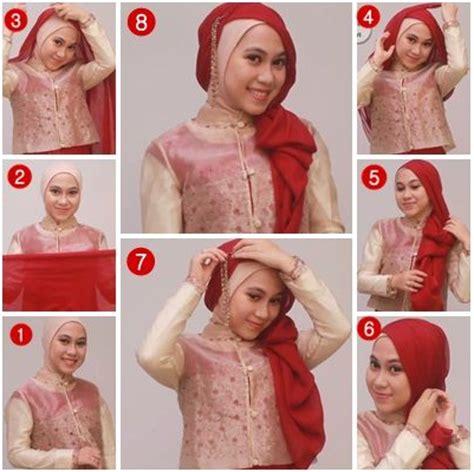 tutorial hijab syar i kebaya 5 tutorial hijab kebaya simpel dan modern mudah