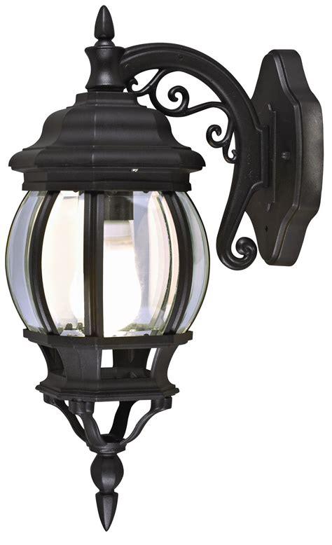 blooma canterbury black mains powered external wall lantern departments diy  bq