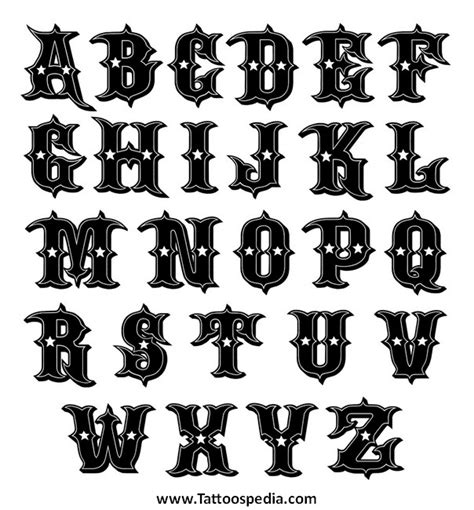 tattoo fonts abc 4