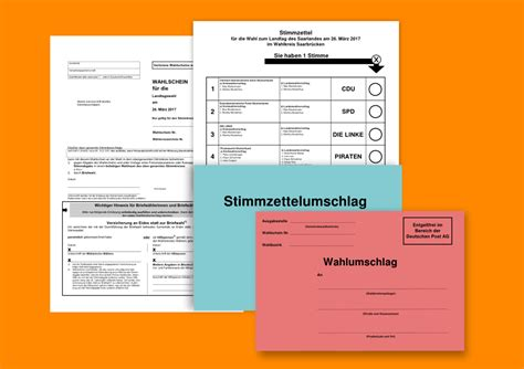 Antrag Briefwahl Landtagswahl Niedersachsen 2017 Briefwahl Piratenpartei Saarland