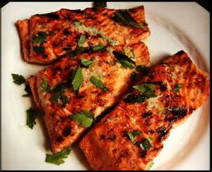 grilled salmon with lemon garlic sauce recipe