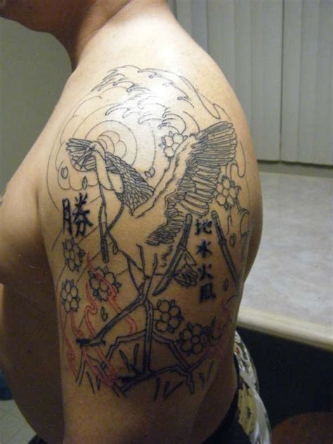 japanese crane tattoo crane images designs