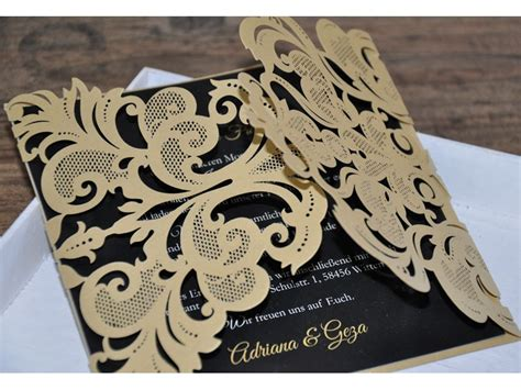 Hochzeitseinladung Zweisprachig by Einladungskarte Zur Hochzeit Zweisprachig Quot Goldpracht Quot
