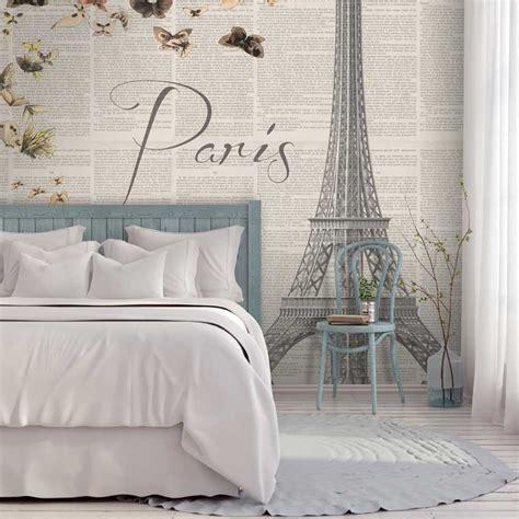 tappezzeria da letto sognando parigi carta da parati da letto