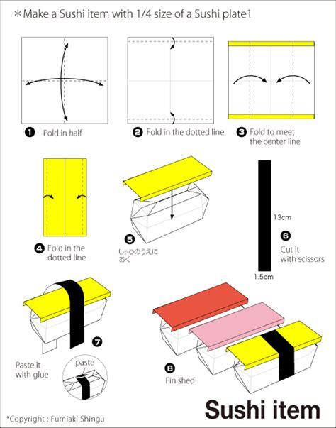 Sushi Origami - sushi easy origami for