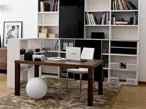 Simple Office Decorating Ideas Office In The Living Room Ideas Modern House