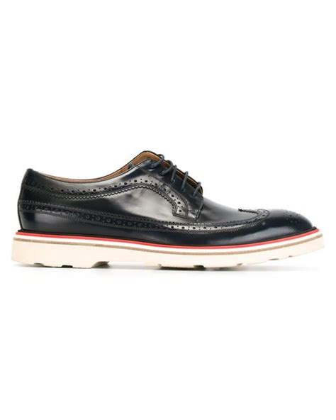paul smith brogue shoes in black for lyst