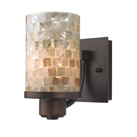 Bronze Wall Sconce Bronze Wall Sconce With Mosaic Glass