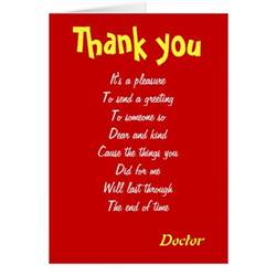 doctor thank you cards zazzle