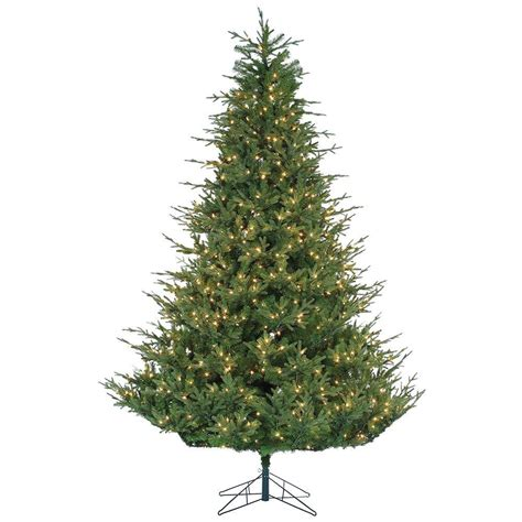 9 foot christmas tree with power pole sterling 9 ft pre lit cut upswept chesterfield spruce artificial tree with