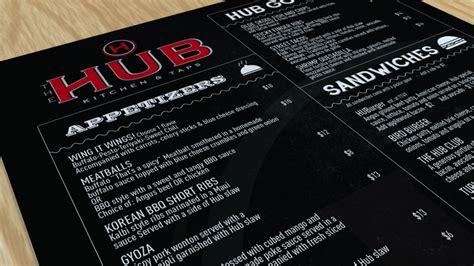 design hub menu the hub menu design nate wren graphic design