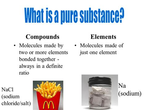 what is chagne made of substances vs mixtures physical and chemical changes ppt