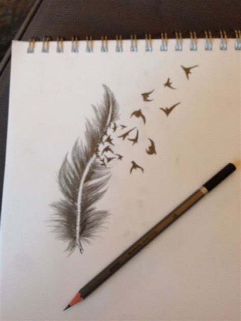 pen tattoo tutorial plume dessin dessin pinterest