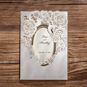 laser cut wedding invitations white flowers wedding cards paper birthday invitation card