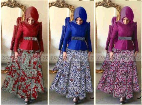 Longdress Batik Merah gaun batik modern mira p873 busui jual gamis batik