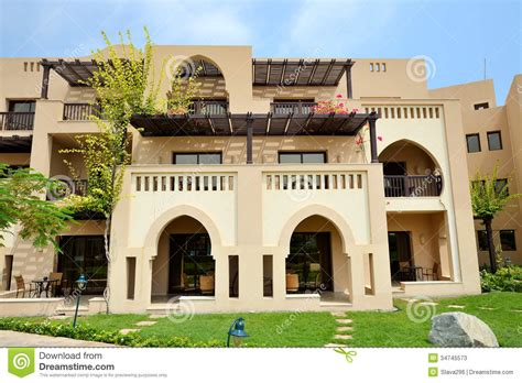 home design arabic style the arabic style villas in luxury hotel stock image