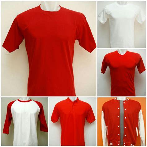 Kaos Tshirt Hut Ri Ke 72 Agustus 1 Putih koleksi kaos polos dan sweater polos merah putih untuk