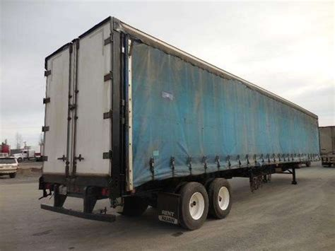 flatbed curtain side trailers 1996 nuvan 53 curtain van flatbed curtain side trailer