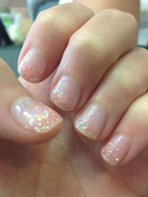 shellac nail polish light the 25 best clear glitter nails ideas on pinterest
