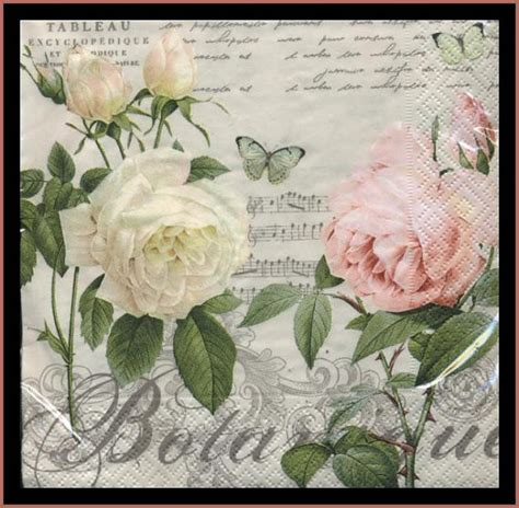 Paper Napkinnapkin Decoupagetissue Decoupage decoupage paper napkins roses use for decoupage mixed