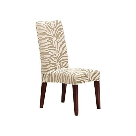 Surefit 1 Piece Stretch Zebra Short Dining Room Chair Zebra Dining Room Chairs